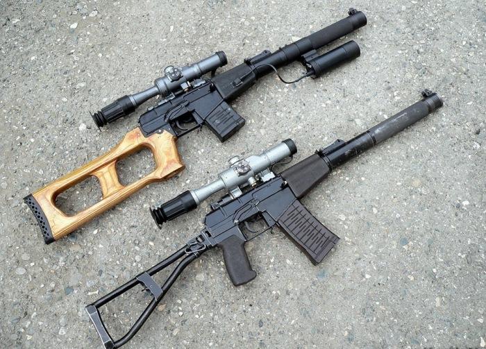 Бесшумная винтовка ВСС «Винторез» и автомат АС «Вал». | Фото: drive2.ru