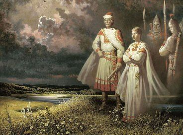 Старинный русский  наряд.
