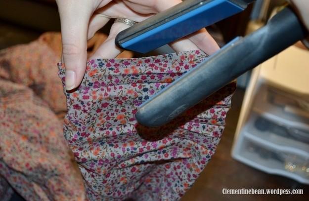 24. Используйте выпрямитель для волос для отглаживания мелких складок на одежде лайф-хаки, советы в быту, советы для девушек
