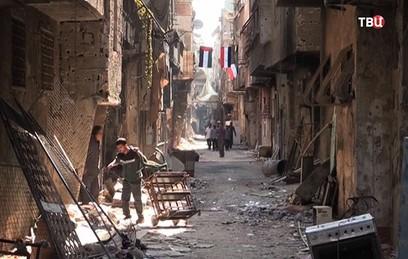 Под Дамаском ищут тела убитых боевиками сирийских солдат