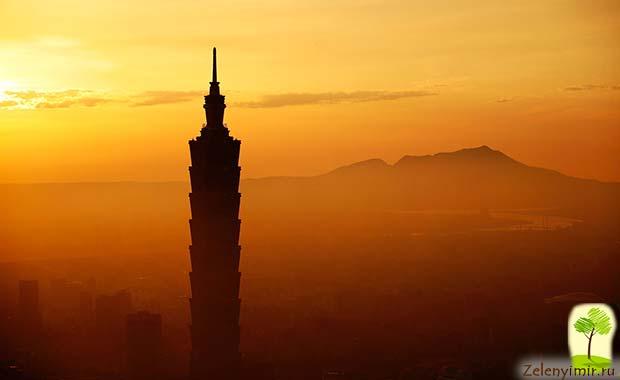 Гигантский небоскреб Тайбэй 101 в Тайване - 12