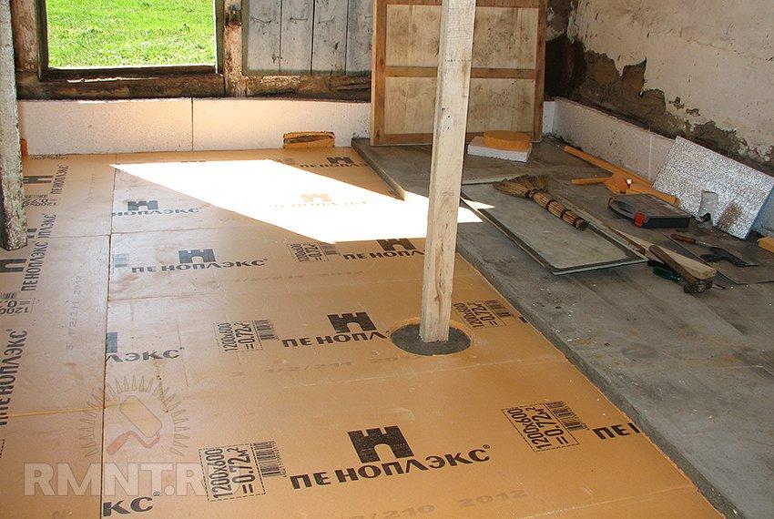 Как сделать деревянный пол на бетонном полу