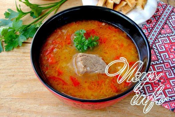 Рисовый суп с говядиной