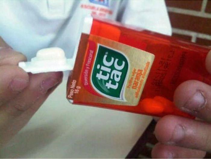 Особенность упаковки Тик-Така.