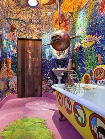 необычная плитка для ванной фото