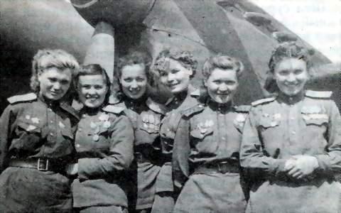 Советские женщины-пилоты.