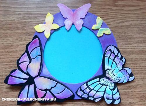 Оригинальная фоторамка с бабочками из фоамирана – пошаговый урок