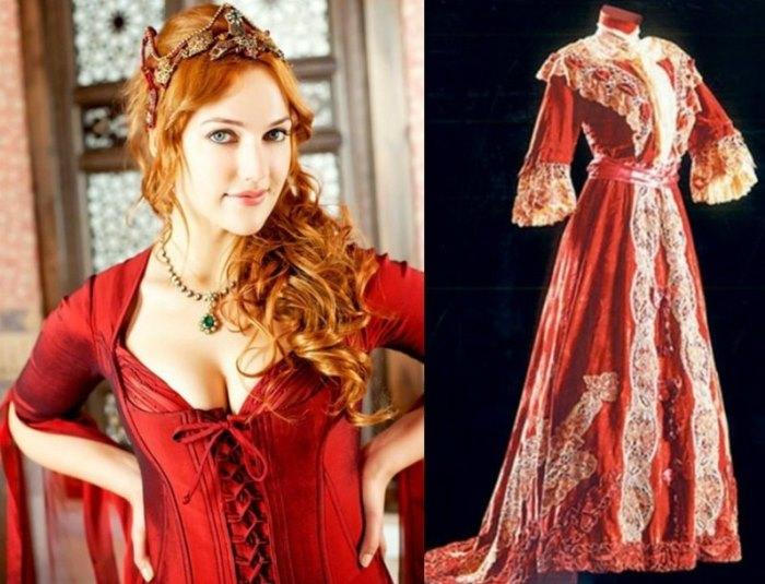 Мерьем Узерли в роли Хюррем и традиционный османский наряд | Фото: kino-teatr.ru