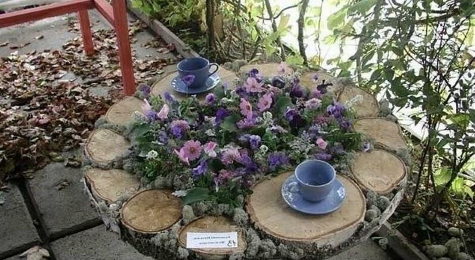 поделки для дачи сада двора своими руками из дерева фото - Самоделкины