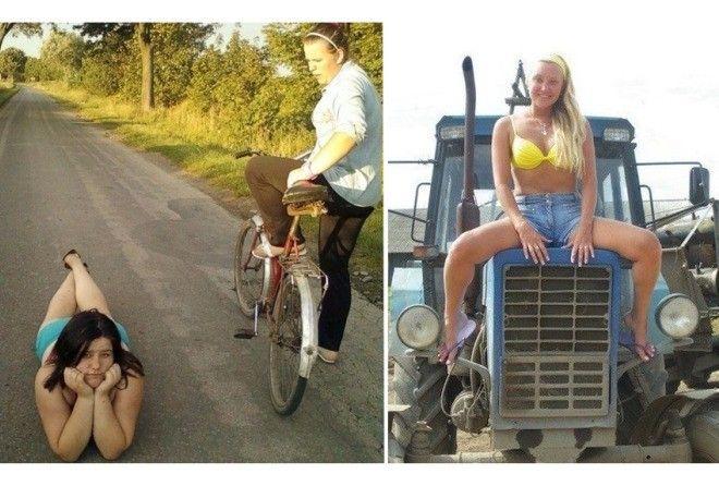 Ржачные фото девчонок из села, способных покорить ваше сердечко!