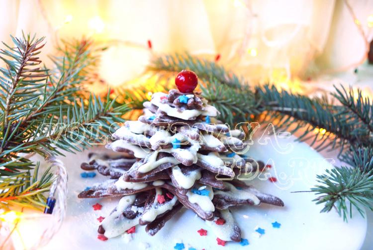Ёлка из шоколада. Как приготовить шоколадную ёлочку на Новый год