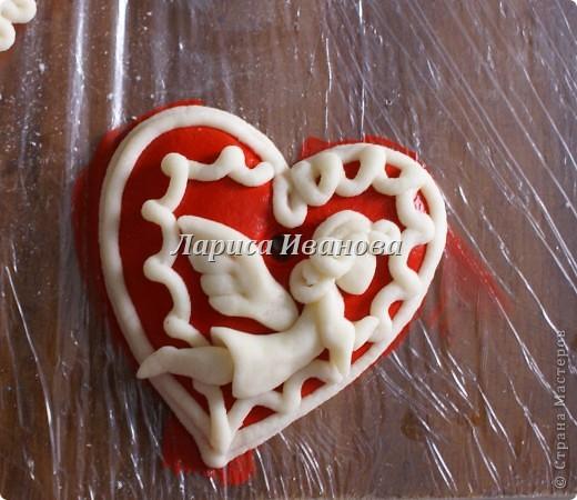 Валентинки из соленого теста