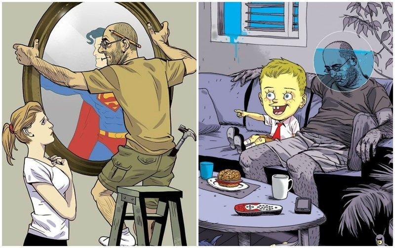 Сатирические иллюстрации Асафа Хануки, которые заставляют задуматься