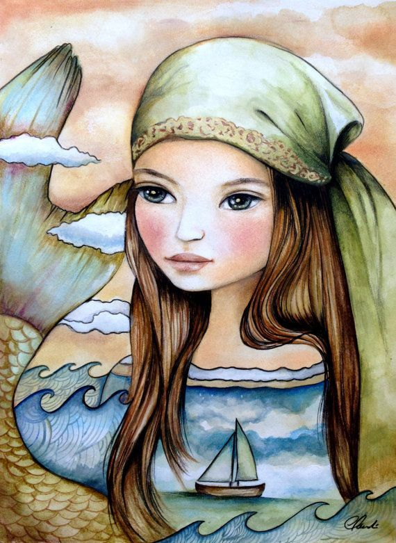 Claudia Tremblay Art | The Oceans Daughter by Claudia Tremblay | ART & PHOTOS