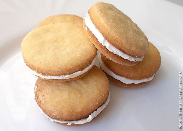 Печенье-сэндвич с творожной начинкой