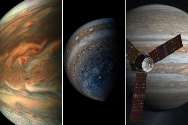 Потрясающие фотографии Юпитера, отснятые зондом Юнона