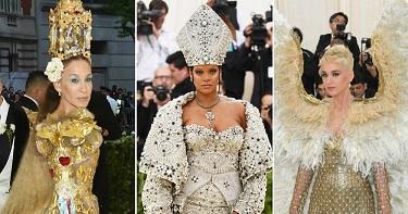 Бархат и золото, короны и перьÑ: Ñамые кричащие образы на Met Gala 2018