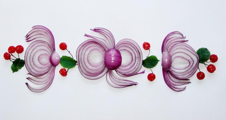 Как делать украшение на салаты