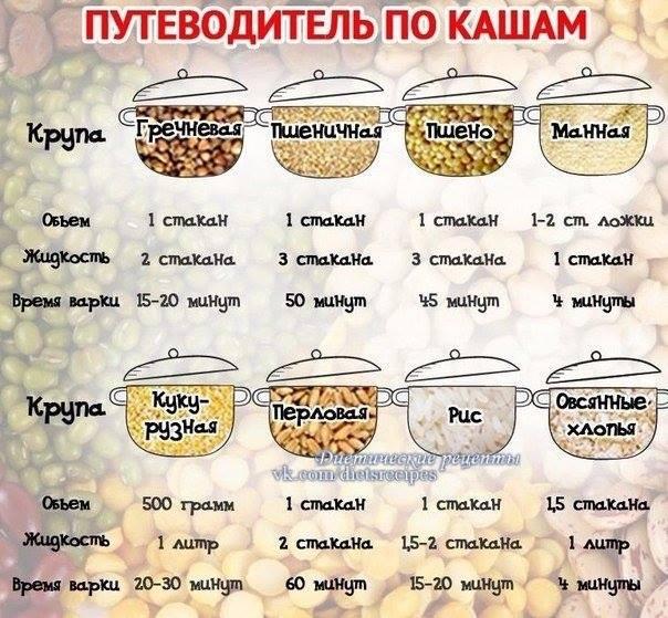 Путеводитель по кашам!🍚🍒🍉