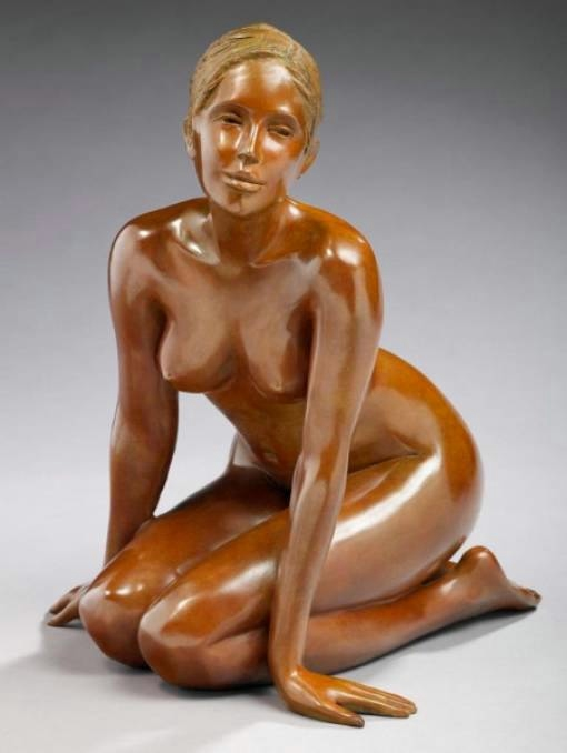 Женская красота и спокойствие в скульптурах Brigitte Teman