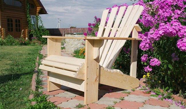 Самодельное кресло для отдыха на даче с чертежами