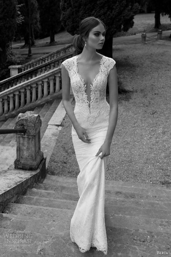 berta-wedding-dress-with-illusion-back-plunging-neckline-2014