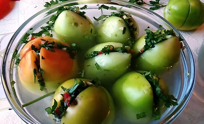Зеленые помидоры по грузински на зиму Зеленые помидоры по грузински, Зеленые помидоры фаршированные, Еда, Кулинария, Видео