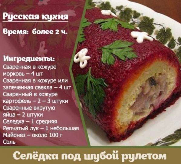 Последовательность салата селедка под шубой классический