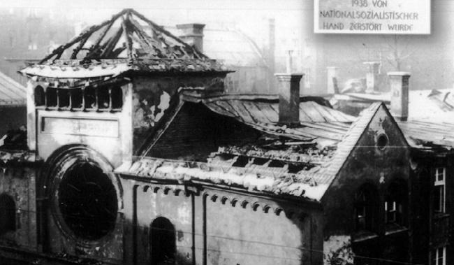 Хрустальная ночь в 1938 году в нацистской Германии