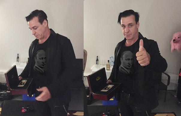 Лидер Rammstein похвастался золотым iPhone 6s с ликом Путина и призвал отменить санкции против России