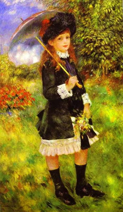Pierre-Auguste Renoir - Young Girl with Parasol (Aline Nunes) (408x700, 104Kb)