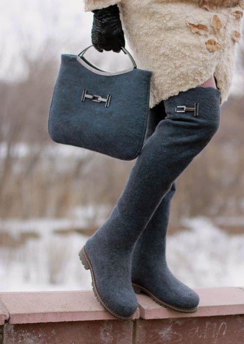 Когда валенки в тренде – самые модные модели этой зимы