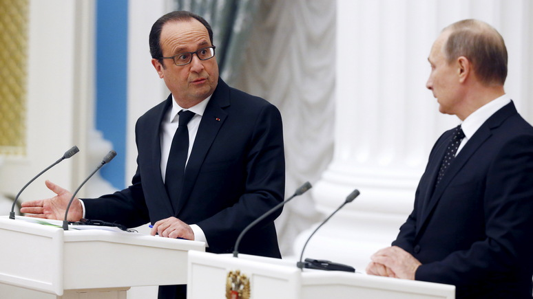 Олланд о Путине: «Это сильный и загадочный человек — настолько же душевный и внимательный, насколько он может быть холодным и жёстким»