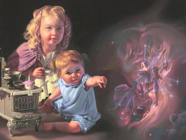 Улыбка ребенка, художник Bob Byerley