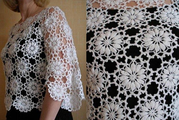 Красивая блуза крючком из цв…