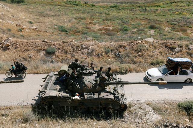 В Сирии в результате переговоров боевики сдали три танка