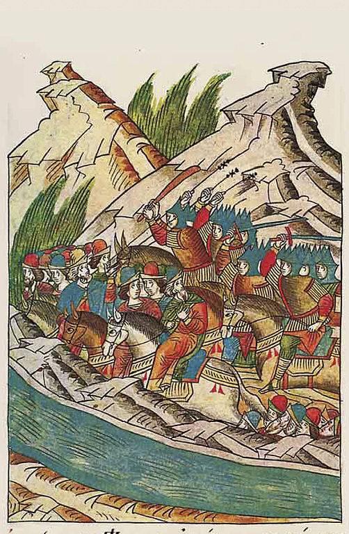 Победа русской армии в битве…