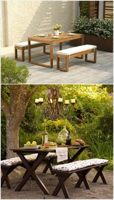 Комплект мебели для пикника на открытом воздухе.
