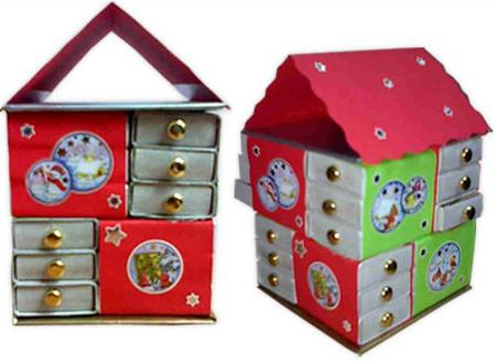 Дом-шкатулка из коробков