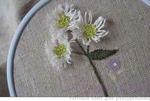 Как вышить цветы. Простые приемы