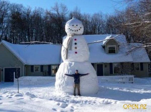 Как сделать из человека снеговика