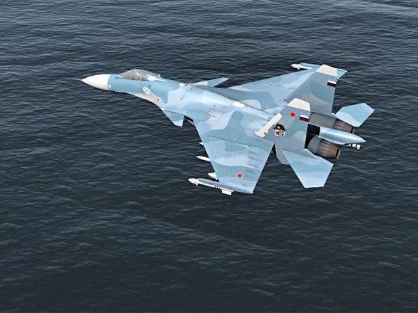 Российский истребитель испор…