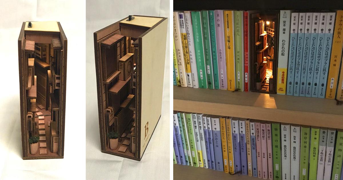 Creative Bookshelf Inserts By Japanese Artist