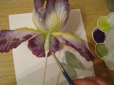 Цветок из лоскутка - прекрасный ирис в подарок