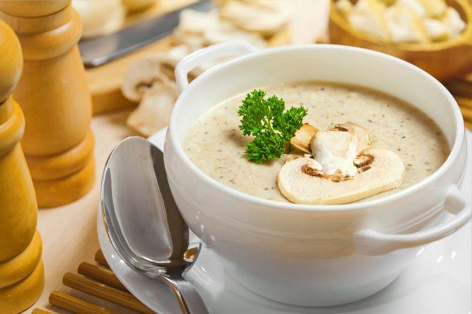 Грибной крем-суп с шампиньонами