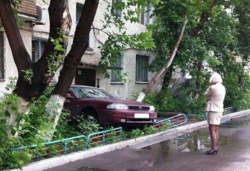 Когда за руль садится женщина)