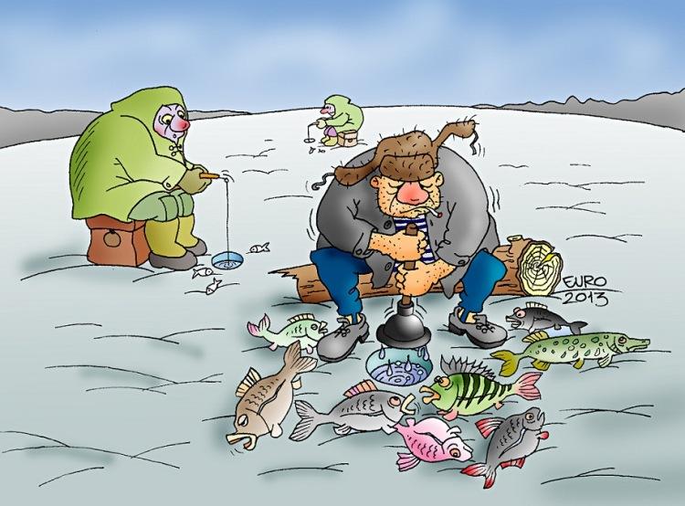 карикатуры про рыбалку фото
