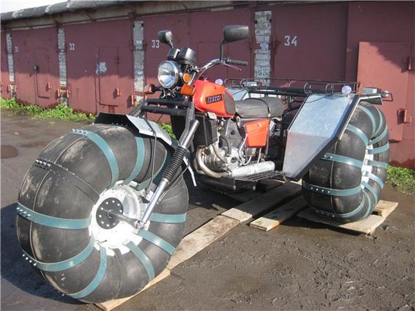 Болотоход из мотоцикла своими руками