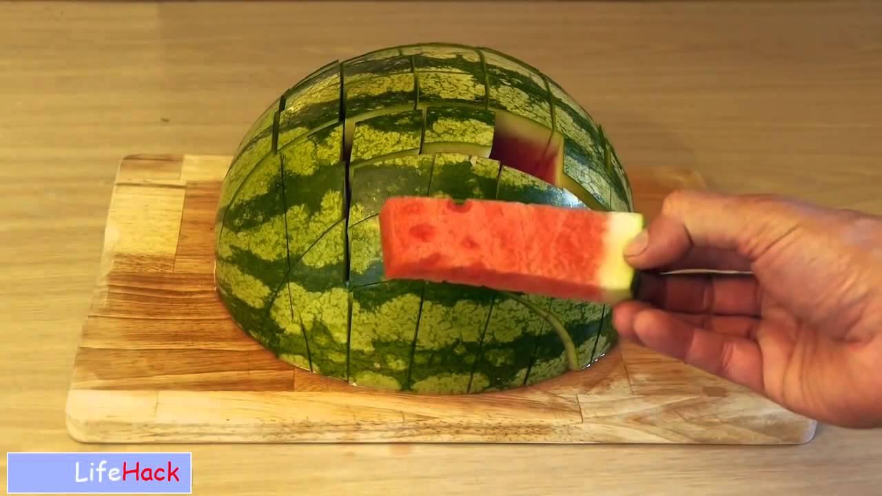 Как красиво нарезать арбуз пошагово фото