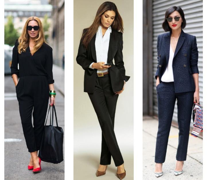 Что можно надеть с брюками женщине